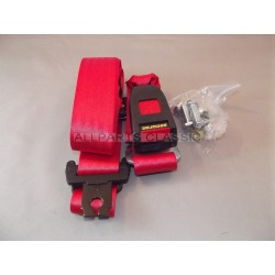 CEINTURE DE SECURITE 3 POINTS ARRIERE ROUGE Ref: MSA1113RED