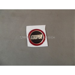 BADGE AUTOCOLLANT 27mm COOPER CERCLE ROUGE