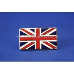 BADGE UNION JACK EN METAL ET RESINE ( ADHESIF) Ref: msa2119